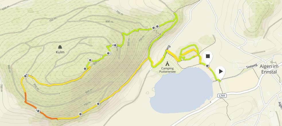 GPS Route KUlm
