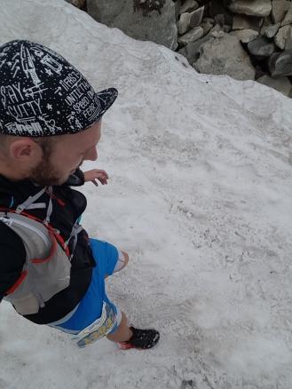 Vom Kapruner Törl gings übers Schneefeld bergab